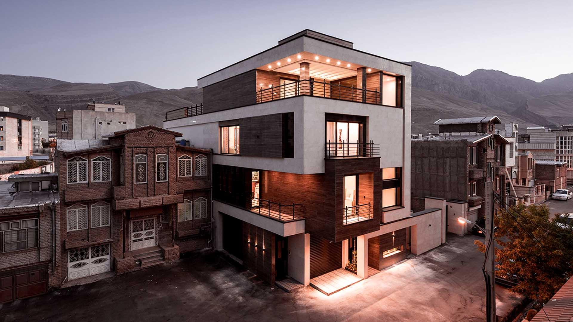 خانه شماره بیست 20 واقع در آذربایجان غربی شهر ماکو کاری از آتلیه معماری مکعب سفید