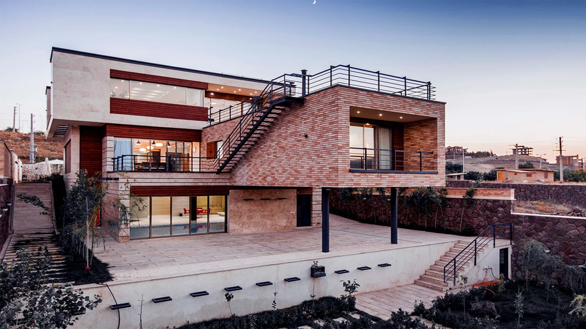 پروژه شخصی ویلای ماوی واقع در دماوند شهرک هشت بهشت کاری از آتلیه مکعب سفید